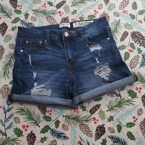 Indigo Rein Ripped Denim Shorts